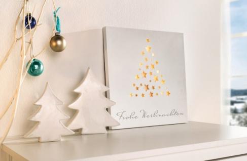 LED HOLZ BILD Frohe Weihnachten mit BELEUCHTUNG WEIHNACHTS DEKO WEIHNACHTSBILD