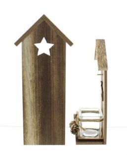 2er windlicht winterelch holz glas kerzenhalter teelicht weihnachten neu kaufen bei jurvit gbr. Black Bedroom Furniture Sets. Home Design Ideas