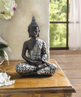 """DEKO FIGUR """" Indischer Buddha? POLYSTEIN FENG SHUI STATUE ASIA SKULPTUR NEU"""