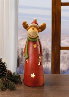 WINDLICHT ?Weihnachtsrentier? FIEBERGLAS KERZENHALTER TEELICHT WEIHNACHTEN NEU