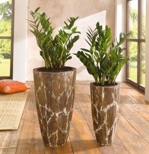 2er bertopf savanne blumentopf braun holz pflanzk bel blumenk bel pflanztopf kaufen bei. Black Bedroom Furniture Sets. Home Design Ideas