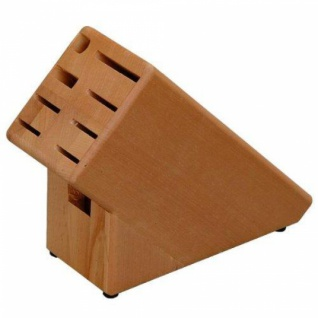 KESPER MESSERBLOCK BUCHE 9x11x25cm für 8 Messer, Wetzstahl, Schere
