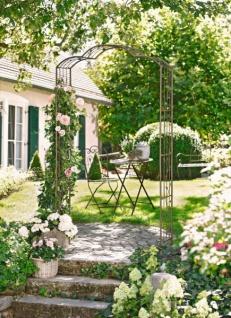 2er rankhilfe nostalgie rankgitter metall rosens ule blumengitter pflanzst tze kaufen bei. Black Bedroom Furniture Sets. Home Design Ideas