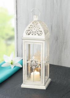 metall laterne barock weiss gartenlaterne windlicht kerzenhalter gartenlampe kaufen bei. Black Bedroom Furniture Sets. Home Design Ideas