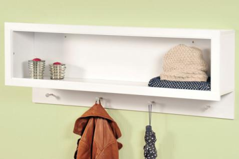 garderobe romance 20122 wandgarderobe 38cm kleiderhaken wandregal regal haken kaufen bei. Black Bedroom Furniture Sets. Home Design Ideas