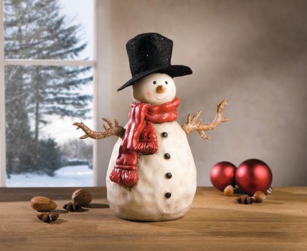schneemann zylinder polystein weihnachten dekofigur. Black Bedroom Furniture Sets. Home Design Ideas