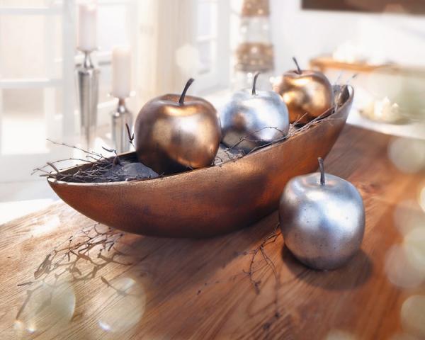 Deko apfel metallic kupfer steindeko steinapfel weihnachten weihnachtsdeko kaufen bei - Kupfer deko wohnzimmer ...