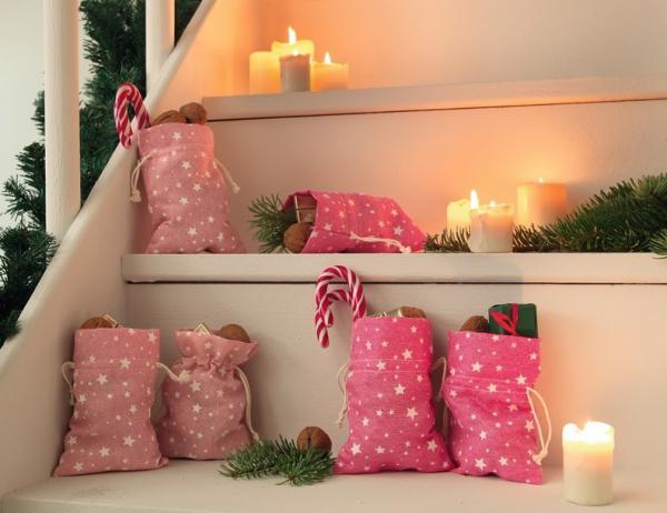 6er geschenkbeutel glitzersterne rosa pink. Black Bedroom Furniture Sets. Home Design Ideas