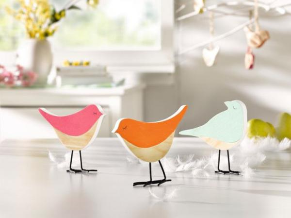 3er deko figur bird holz tischdeko holzdeko vogel tierfigur ostern fr hling neu kaufen bei. Black Bedroom Furniture Sets. Home Design Ideas