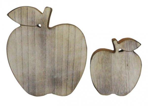 2er deko apfel rostoptik holz landhausstil dekoration deko for Apfel dekoration