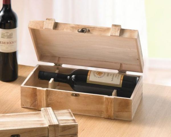 holztruhe rustikal f r 2 flaschen braun weinkiste holzkiste wein box dekokiste kaufen bei. Black Bedroom Furniture Sets. Home Design Ideas
