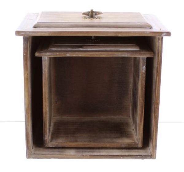 2er deko schublade rustikal wandboard schubkasten wandregal holz landhaus neu kaufen bei. Black Bedroom Furniture Sets. Home Design Ideas