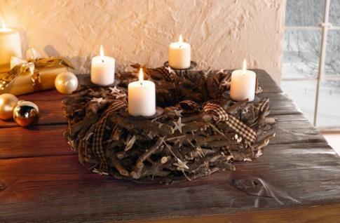 kaheku edelstahl kranz stylish adventskranz. Black Bedroom Furniture Sets. Home Design Ideas