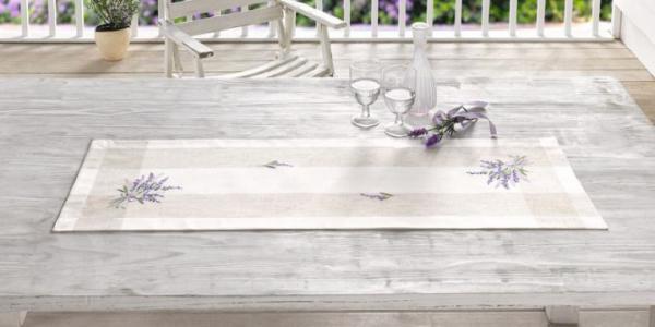 TISCHLÄUFER ?Lavendel? 40 x 120cm TISCHBAND TISCHWÄSCHE TISCHTUCH NEU