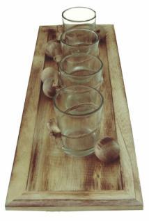 windlicht holzdeko 10tlg glas holz kerzenhalter tischdeko teelicht neu kaufen bei jurvit gbr. Black Bedroom Furniture Sets. Home Design Ideas