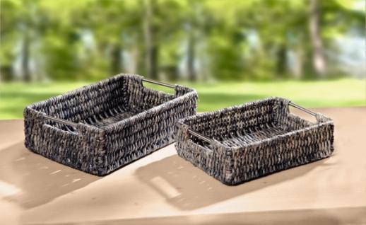 2er schale eckig maisstroh regalkorb obstschale brotkorb korb metallgriffen kaufen bei jurvit gbr. Black Bedroom Furniture Sets. Home Design Ideas
