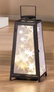 große METALL LED LATERNE mit DESIGN LICHT EFFEKTEN NEU WINDLICHT LAMPE LEUCHTE