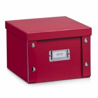 2x ZELLER DVD BOX mit DECKEL rot für 26 DVD's AUFBEWAHRUNG KISTE KARTON CASE