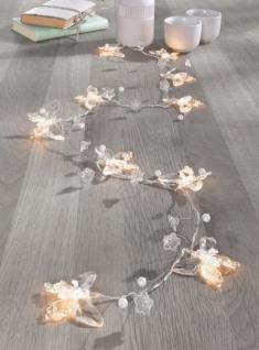 """LED LICHTERKETTE """" Schmetterling"""" 10 LICHTER warmweiß 150cm LICHTERSCHLAUCH"""