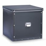 ZELLER KUNSTSTOFF AUFBEWAHRUNGSBOX mit DECKEL anthrazit 33, 5x33x32 BOX KISTE