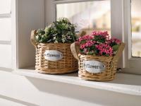 2er PFLANZKORB Flowers WEIDENKORB BLUMENKORB GARTEN BLUMENTOPF WEIDE NEU