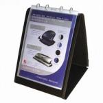 NOBO TISCHFLIPCHART TISCH FLIPCHART A4 hoch schwarz mit 10 SICHTHÜLLEN NEU