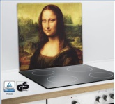 WENKO MULTI-PLATTE Mona Lisa ARBEITSPLATTE WANDBLENDE SCHNEIDBRETT GLAS NEU