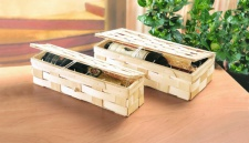 """2x ZELLER CD BOX """" TEXTURE"""" pistazie für 20 CD's NEU AUFBEWAHRUNGSBOX KISTE"""