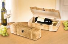 WEINKISTE Rustikal braun HOLZKISTE HOLZTRUHE BOX TRUHE DEKOKISTE 36 x 12 x 11 cm