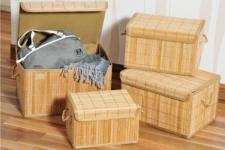 KESPER BAMBUS HOLZ KISTE BOX SCHACHTEL 28, 5x19x18, 5 AUFBEWAHRUNGSBOX ALLZWECKBOX