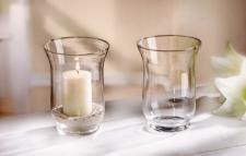 GLAS-WINDLICHT TEELICHTHALTER KERZENHALTER TISCHDEKO KERZENSTÄNDER Ø 11 x 15 cm