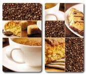 2x KESPER GLAS SCHNEIDEBRETT MOTIV Coffee 52x30 HERD ABDECKPLATTE SPRITZSCHUTZ
