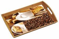 KESPER FSC BAMBUS HOLZ SERVIERTABLETT Kaffee 48x31 FRÜHSTÜCKSTABLETT TABLETT