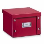 2x ZELLER DVD BOX mit DECKEL rot für 26 DVD's NEU AUFBEWAHRUNGSBOX KISTE