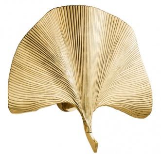 Casa Padrino Designer Wandleuchte Gold 67 x 11 x H. 48 cm - Luxus Wandlampe