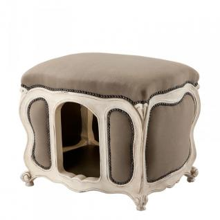 Barock Hunde & Katzen Haus Luxury Sandfarben / Antik Weiß