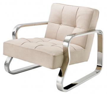 Casa Padrino Luxus Sessel Naturfarbig 72 x 80 x H. 64 cm - Designer Möbel