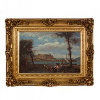 Handgemaltes Barock Öl Gemälde Landschaft Nr 5 Gold Prunk Rahmen 130 x 100 x 10 cm - Massives Material