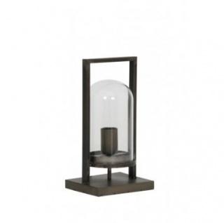 Casa Padrino Tischleuchte Antik Schwarz 17 x 14 x H 32, 5 cm - Leuchte - Tischleuchte