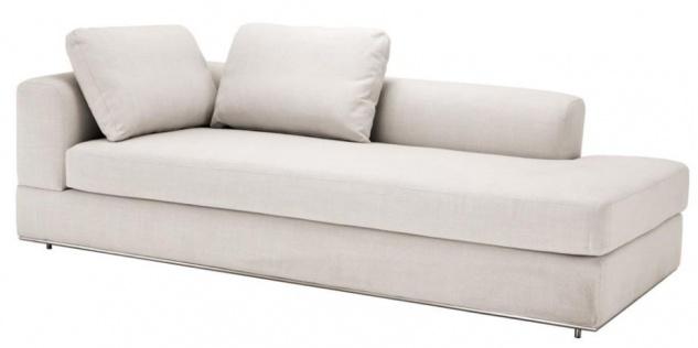 Casa Padrino Designer Sofa Naturfarbig Linksseitig 231 x 101 x H. 85 cm - Luxus Wohnzimmer Möbel