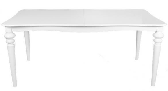 Casa Padrino Barock Esstisch Weiss ausziehbar 180 - 230 cm - Tisch