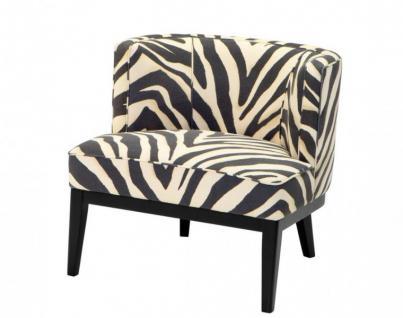 Casa Padrino Limited Edition Designer Sessel Zebra - Luxus Club Möbel