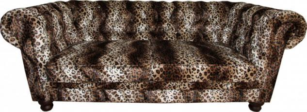 Casa Padrino Limited Edition Designer Chesterfield Sofa Leopard - Club Möbel