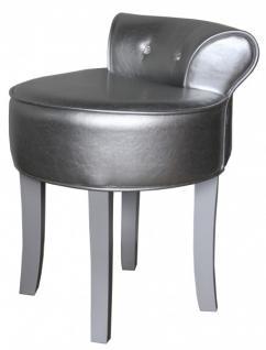 casa padrino designer hocker boston silber silber mit bling bling steinen barock schminktisch. Black Bedroom Furniture Sets. Home Design Ideas