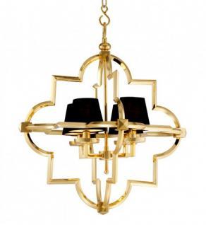 Casa padrino barock luxus kronleuchter 4 flammig jugendstil gold schwarz m bel l ster - Kronleuchter barock ...