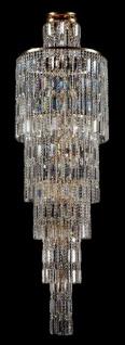 Casa Padrino Barock Kristall Decken Kronleuchter Gold 51, 5 x H 175 cm Antik Stil - Möbel Lüster Leuchter Hängeleuchte Hängelampe