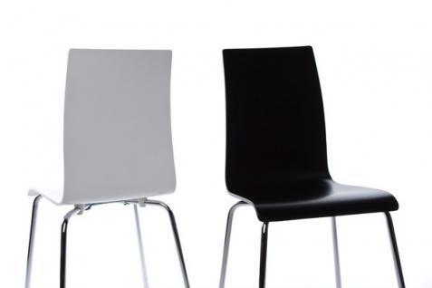 designer stuhl aus holz und verchromtem stahl schwarz. Black Bedroom Furniture Sets. Home Design Ideas