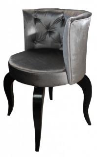 Casa Padrino Barock Salon Stuhl Grau - Designer Sessel - Luxus Qualität