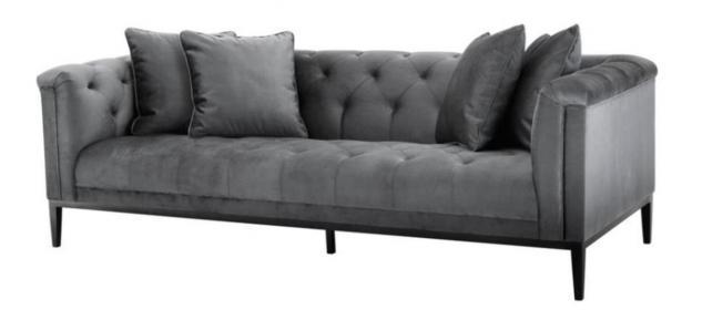 Casa Padrino Luxus Sofa Grau - Wohnzimmer Möbel