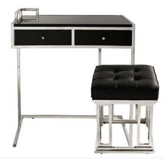 casa padrino konsolentisch mit schubladen schwarz silber. Black Bedroom Furniture Sets. Home Design Ideas